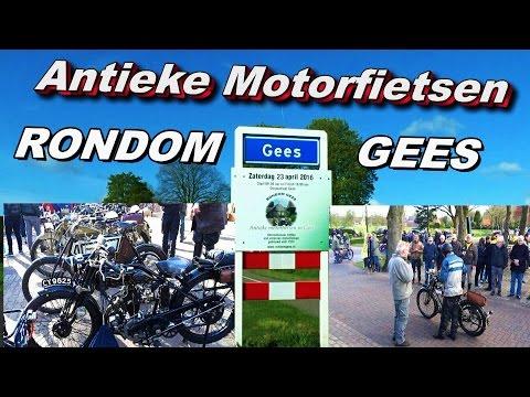 RONDOM GEES ,met antieke motorfietsen 23 04 2016