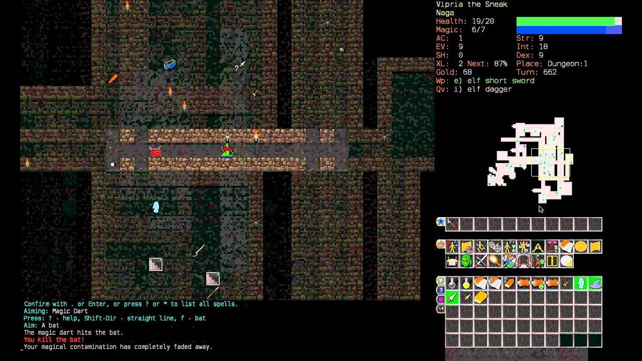 Let S Play Dungeon Crawl Stone Soup Naga Of Cheibriados Pt1