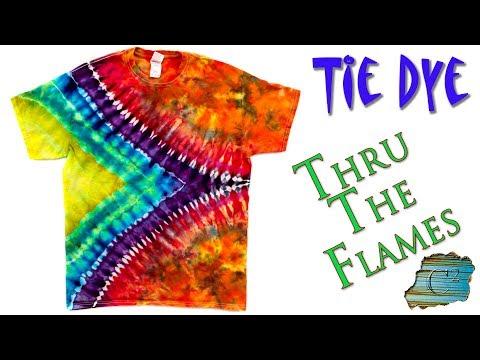 How To Tie Dye:  Thru The Flames  [Ice Dye]