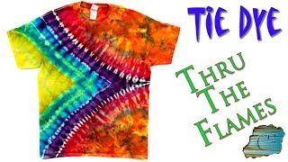 How to Tie Dye:  Thru The Flames  [Ice Dye]
