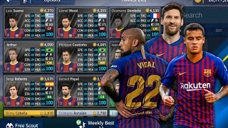 How to get latest fc barcelona ucl team ...