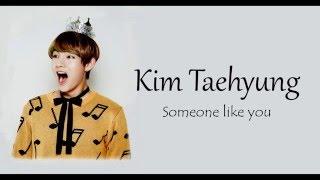 BTS V - Someone Like You lyrics