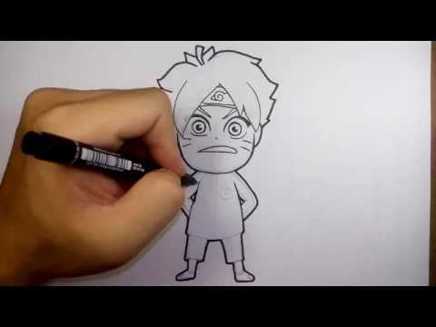 โบรุโตะ จาก การ์ตูน นินจานารุโตะ วาดการ์ตูนกันเถอะ สอน วาดรูป การ์ตูน