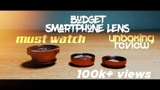 Budget Smartphone Lens Unboxing And Review🔥\\Sarang Krish