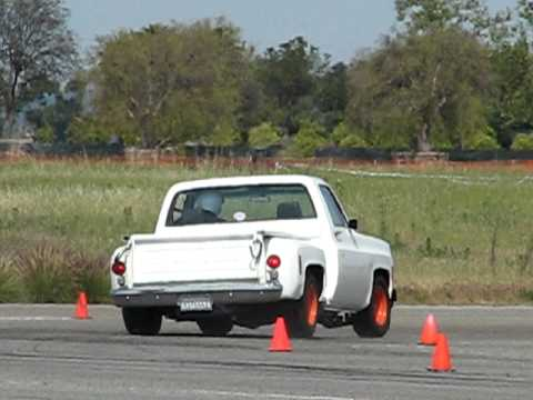 John Barkley autocrossing his '74 Chevy truck