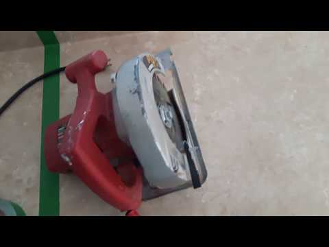 HOW TO CUT KITCHEN COUNTERTOP AT HOME WITH SKILL SAW - DIY