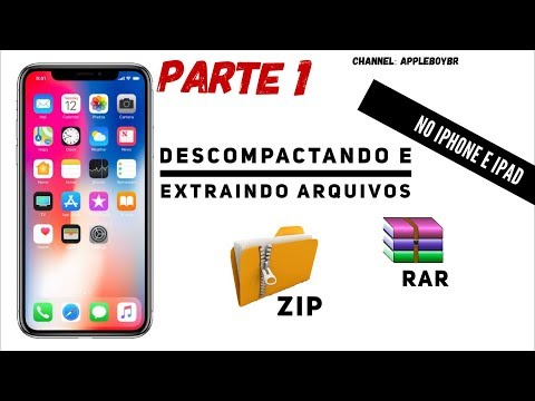 Como Abrir Arquivos Em Formato RAR E ZIP Direto Do IPhone E IPad (Parte1)