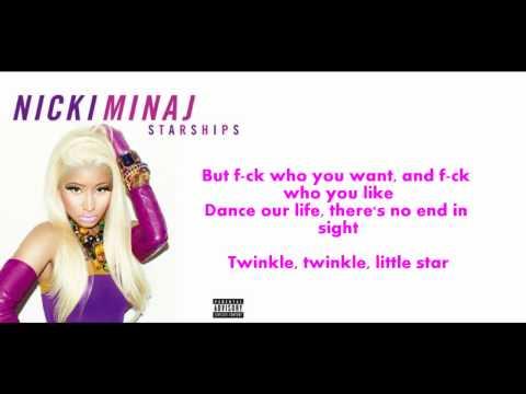 Nicki Minaj StarShips song and lyric video!