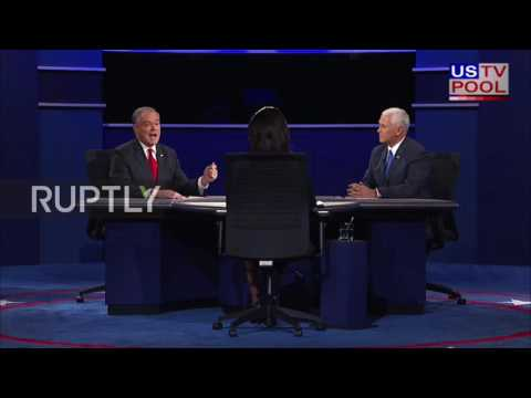 USA: Tim Kaine and Mike Pence face off in first Vice Presidential debate