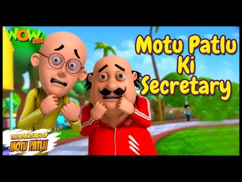 Cartoons | New Episodes Of Motu Patlu | Motu Patlu Ki Secretary | Wow Kidz