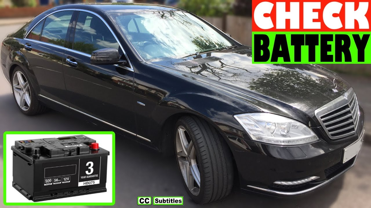 mercedes s class battery location and how to check battery on mercedes s class [ 1280 x 720 Pixel ]