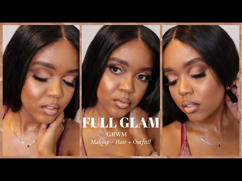 FULL 3 in 1 GRWM | Makeup + Hair + Outfit!! thumbnail