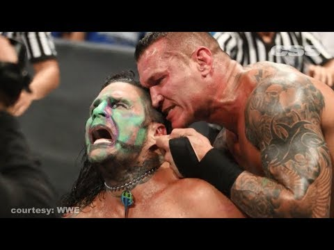 Image result for randy orton jeff hardy ear gif