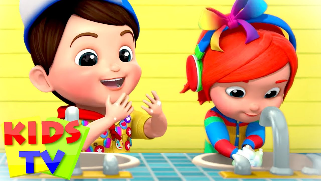 Wash Your Hands Song | Healthy Habits for Kids | Junior Squad | Nursery Rhymes & Songs | Kids Tv