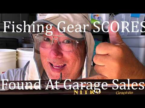 Fishing Gear SCORE Found At Garage Sale!