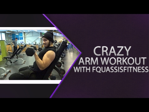 How To Get Big Arms// Teenage Bodybuilding//Crazy Arab