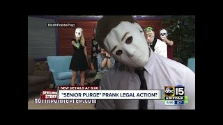 PURGE ANNOUNCEMENT PRANK DURING SCHOOL...this happened... streaming