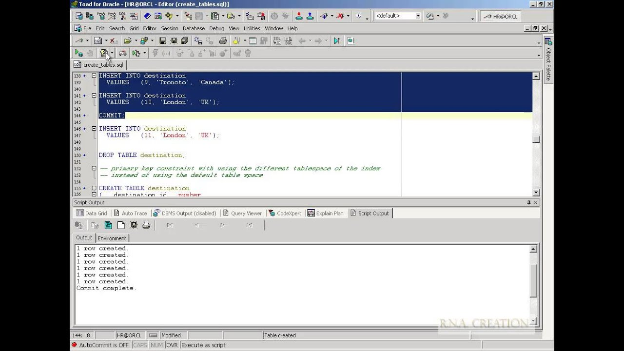 Create table with constraints oracle sql youtube for Table design oracle