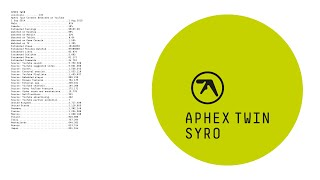 Aphex Twin •'aisatsana 102'