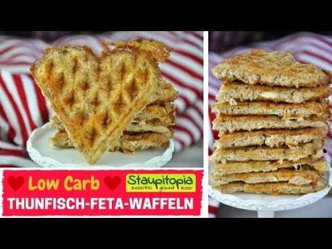 low carb waffeln mit thunfisch feta i herzhafte waffeln aus 4 zutaten i herzhafte low carb. Black Bedroom Furniture Sets. Home Design Ideas