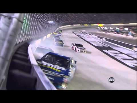 Aric Almirola and David Gilliland Crash - 2012 NASCAR Sprint Cup in Bristol