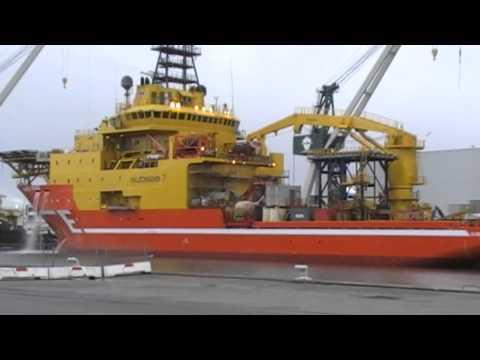 Subsea Viking lige kommet ud af Dok 4 på Orskov Yard