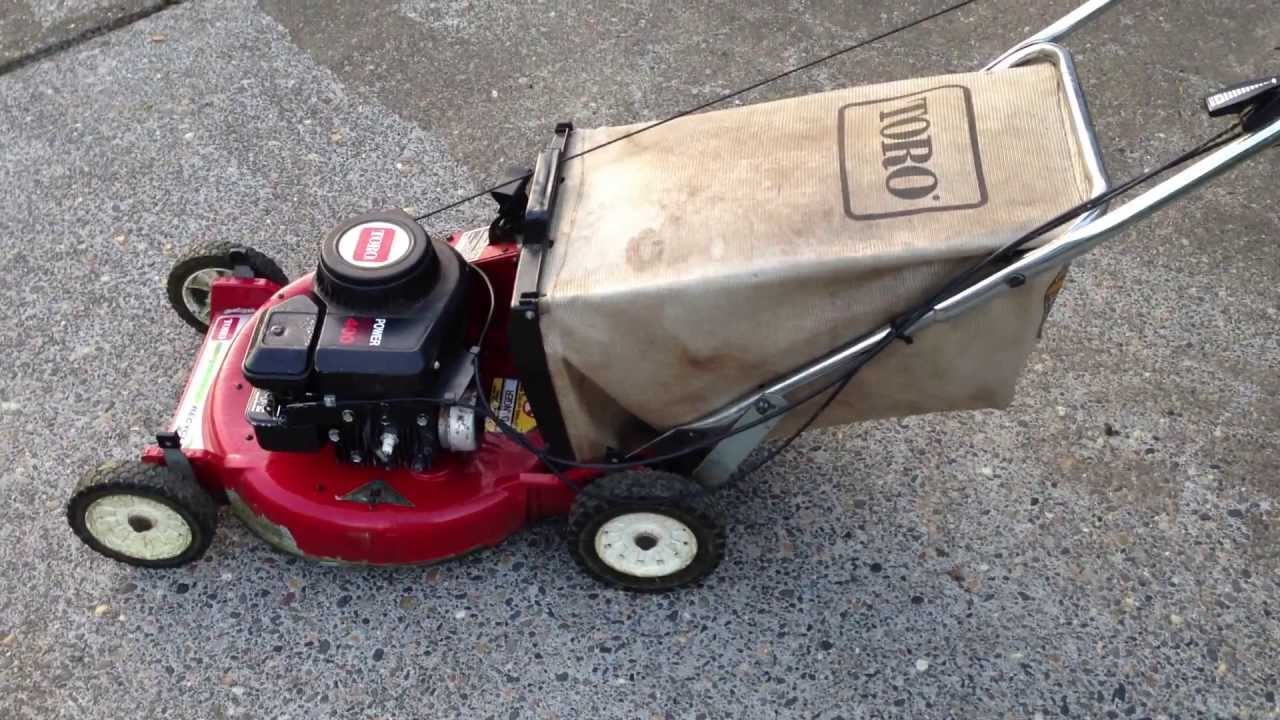 Toro Recycler Ii 18 Rear Bagging Aluminum Deck Lawn Mower Briggs And Stratton 400