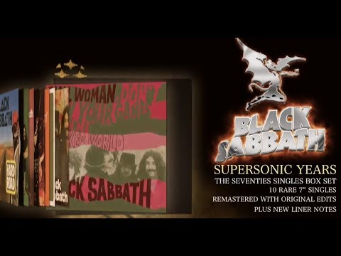 """Black Sabbath unboxing  video  """"Supersonic Years - The Seventies Singles Box Set""""!"""