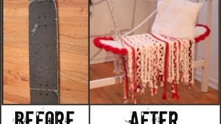 DIY Skateboard Swing Seat! (Pinterest Idea)