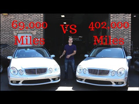 402k Mile VS 69k Mile E55 AMG dyno battle.Then One Broke.