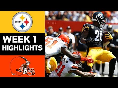 Steelers vs. Browns | NFL Week 1 Game Highlights