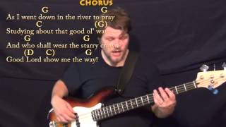 Down in the River to Pray (GOSPEL) Bass Guitar Cover Lesson in G with Chords/Lyrics