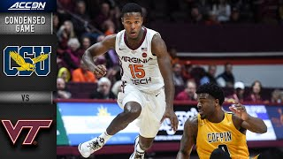 Coppin State vs. Virginia Tech Condensed Game | ACC Men's Basketball 2019-20
