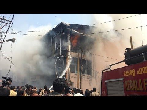 Major Fire in a textile shop in SM Street, Calicut