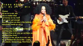 DIANA ROSS - All We Do Is Win