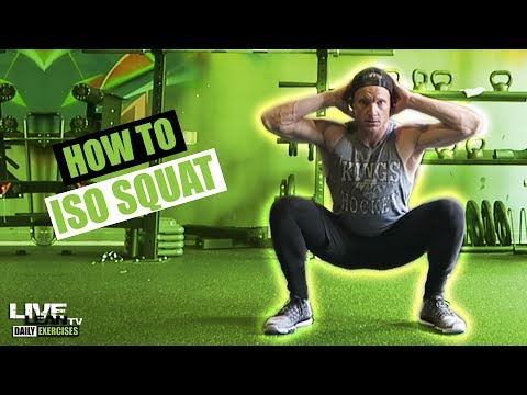 How To Do An ISOMETRIC SQUAT | Exercise Demonstration Video and Guide