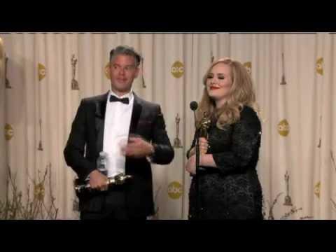Adele & Paul Epworth - Backstage at the Oscars 2013