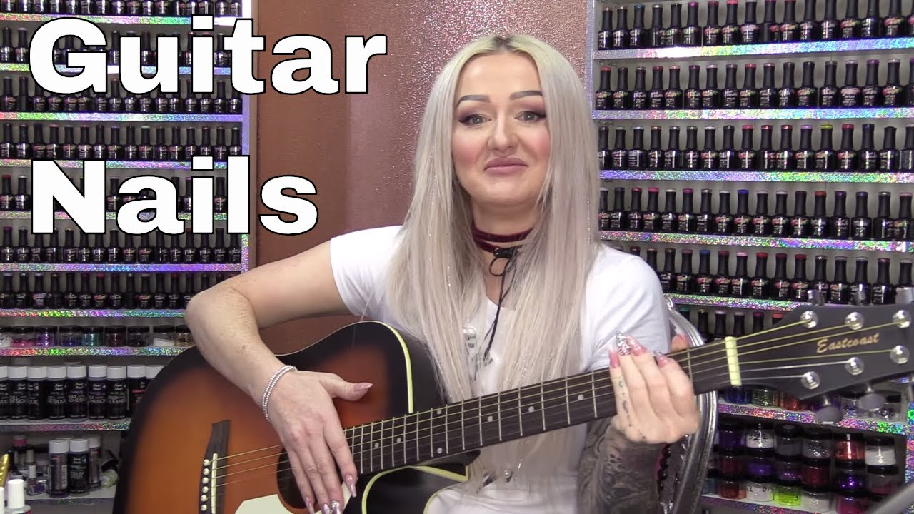 how to sculpt acrylic nails perfect for playing guitar youtube. Black Bedroom Furniture Sets. Home Design Ideas