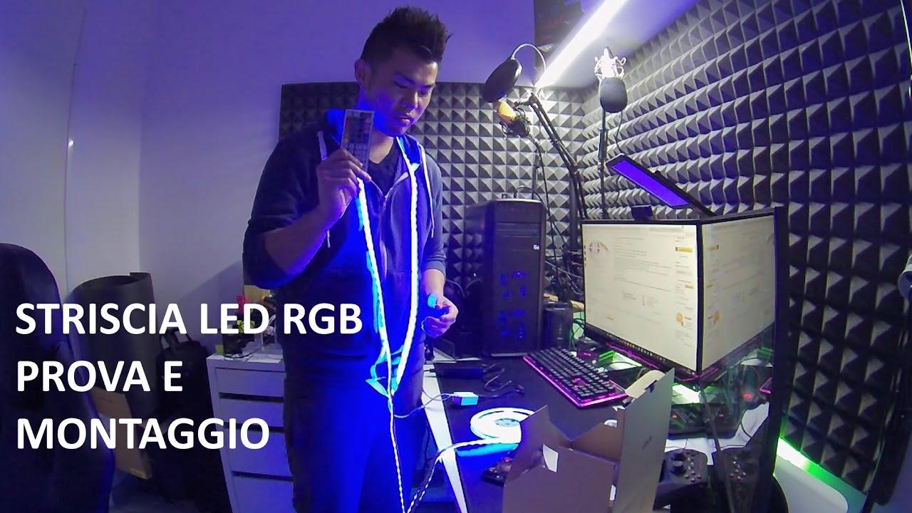 Striscia led rgb aukey recensione e montaggio ita con for Striscia led rgb