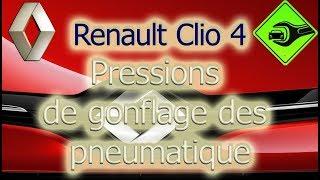 Renault Clio IV | Pressions de gonflage des pneumatique