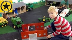 BRUDER TOYS feat. Schleich 42028 Farm Life BARN unboxing in Jack's bworld FARM