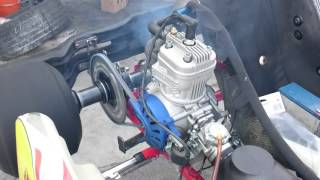 IAME X30 engine running