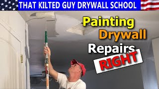 🛑 STOP- YOU'RE PAINTING YOUR DRYWALL REPAIR WRONG, Seriously
