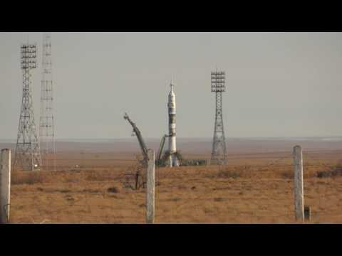 Взлет ракеты с космодрома Байконур.