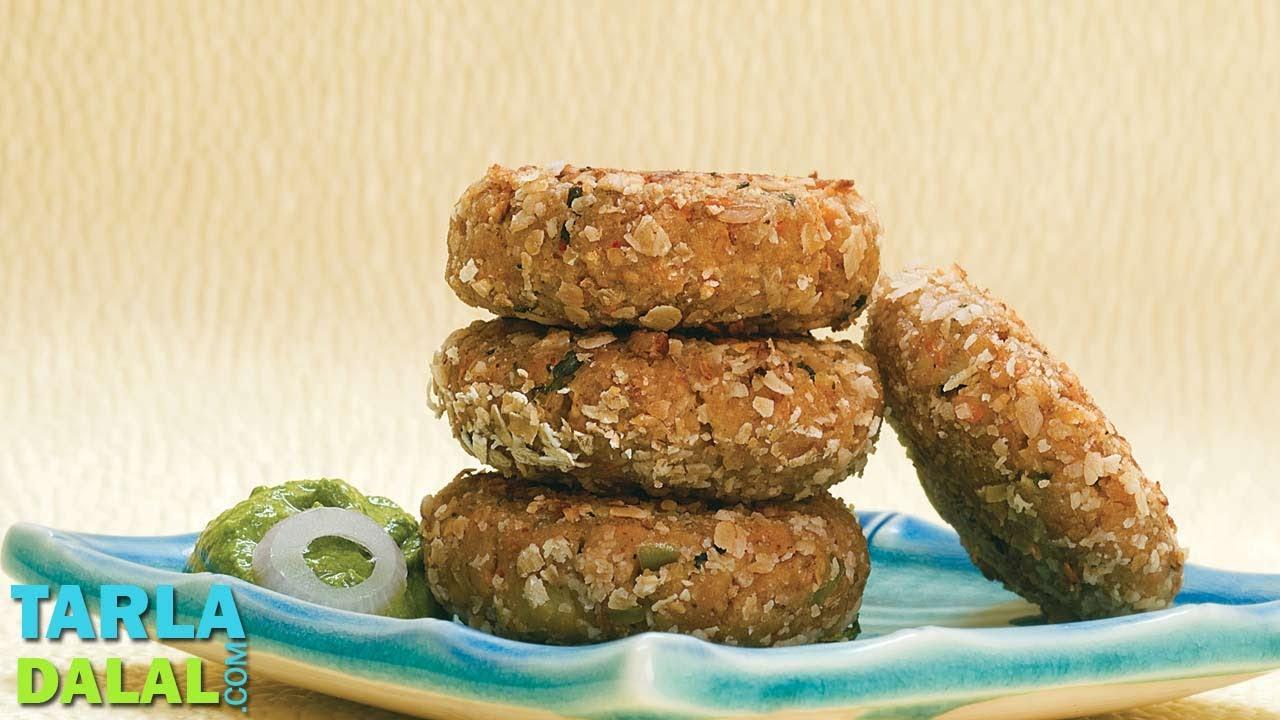 oats oats tikki with healthy green chutney by tarla dalal youtube forumfinder Choice Image
