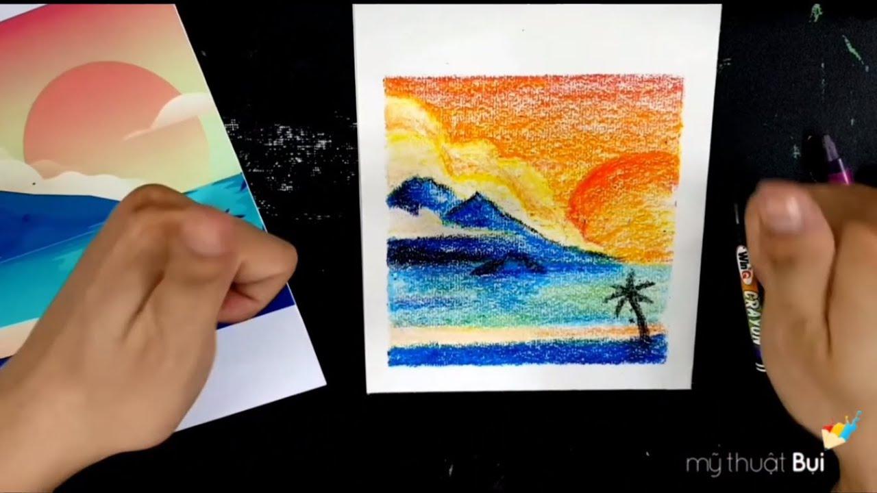 Dạy bé vẽ tranh Phong cảnh và cách tô chuyển màu siêu đẹp