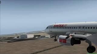 Swiss Airbus A320 landing at Muscat - [Runsame Classics] FSX