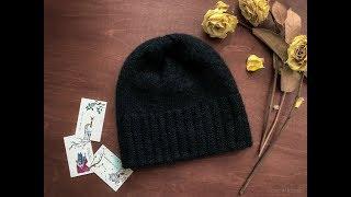 Вязаная мужская шапки бини двойная. Несколько вариантов  ♥ Вяжем спицами ♥ Вязание - это просто ♥