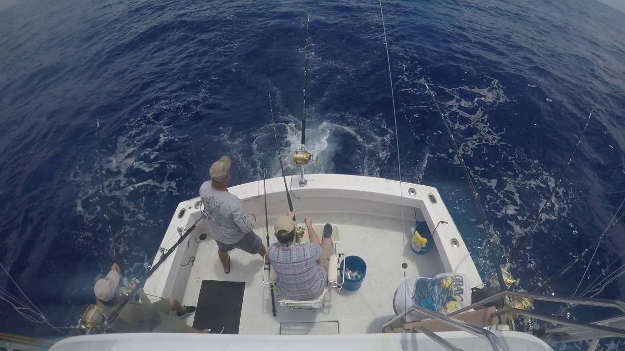 Deep sea fishing for tuna off oahu youtube for Deep sea fishing oahu
