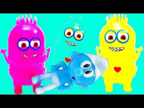 لعبة سنفور ومقلب العفريت من ميمو وفلة مع الإنسان الآلي المتحرك قصة مضحكة للأولاد والبنات